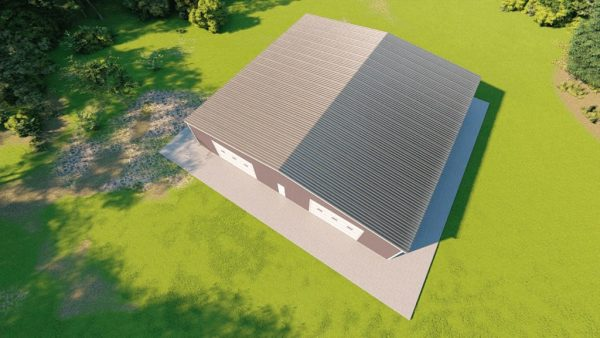 Base building packages 80x80 metal building rendering 6