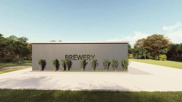 Brewery metal building rendering 1