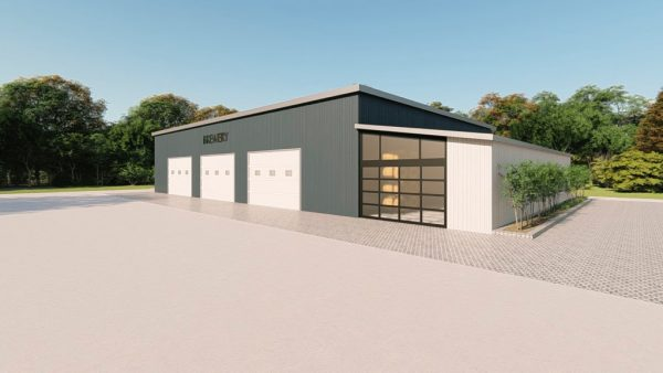 Brewery metal building rendering 3
