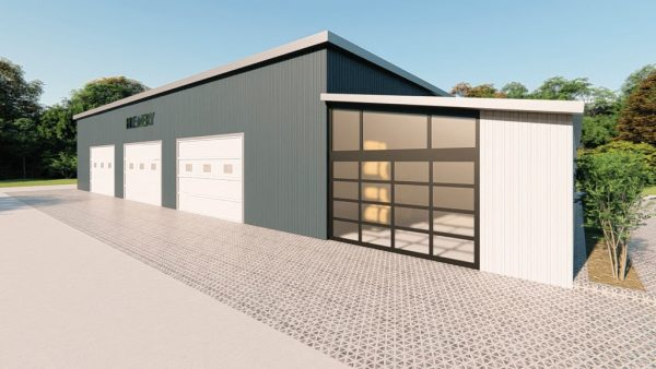 Brewery metal building rendering 4