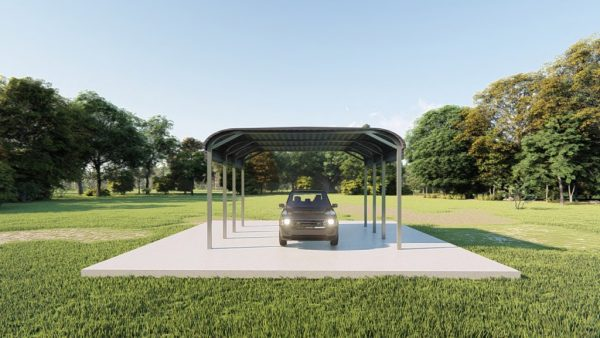 Carports 12x20 tube frame metal building rendering 2