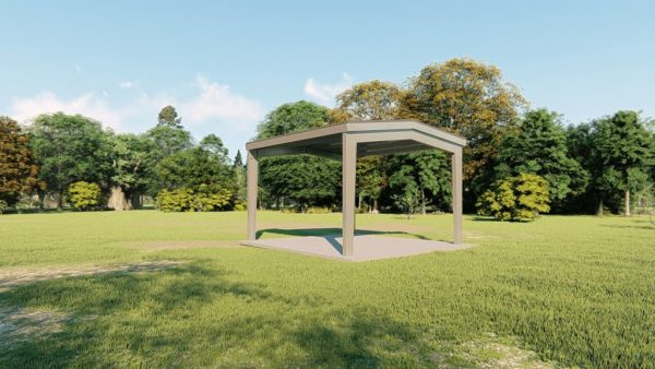 Carports 20x21 carport metal building rendering 4