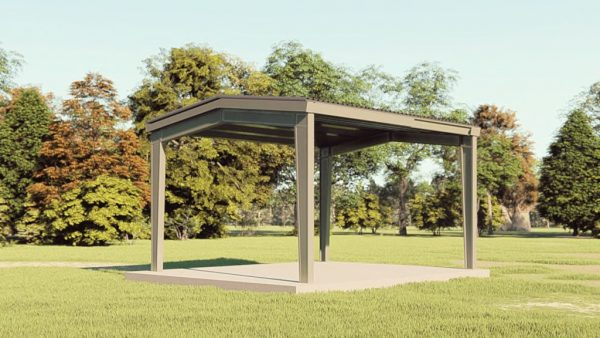 Carports 20x24 carport metal building rendering 1