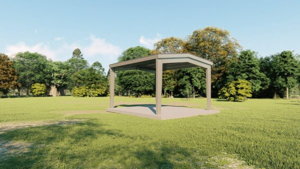 Carports 20x24 carport metal building rendering 4
