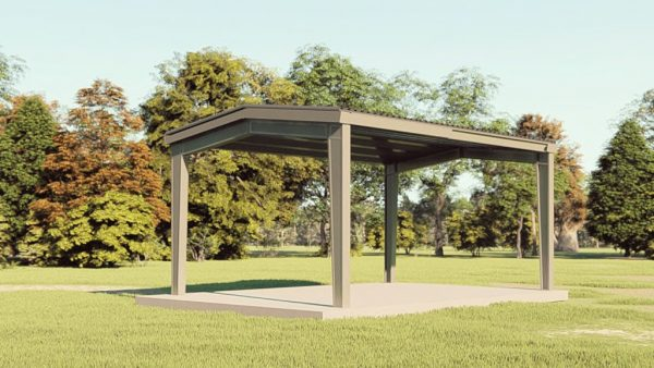Carports 20x30 carport metal building rendering 1