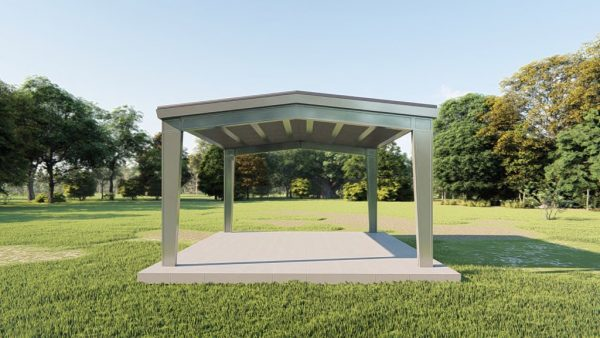 Carports 24x24 carport metal building rendering 2