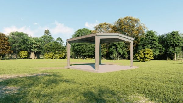 Carports 24x24 carport metal building rendering 4