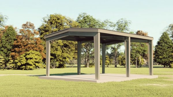 Carports 24x30 carport metal building rendering 1