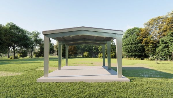 Carports 24x30 carport metal building rendering 2