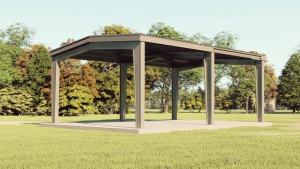 Carports 30x40 carport metal building rendering 1