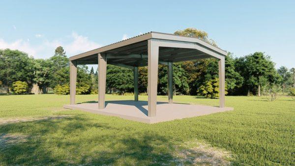 Carports 30x40 carport metal building rendering 4