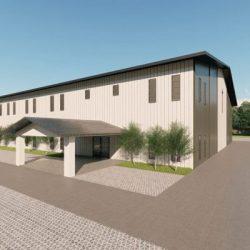 Churches metal building rendering 3