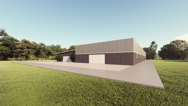Commercial metal building rendering 1