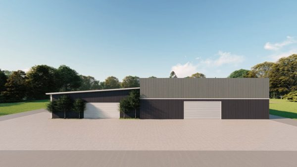 Commercial metal building rendering 2