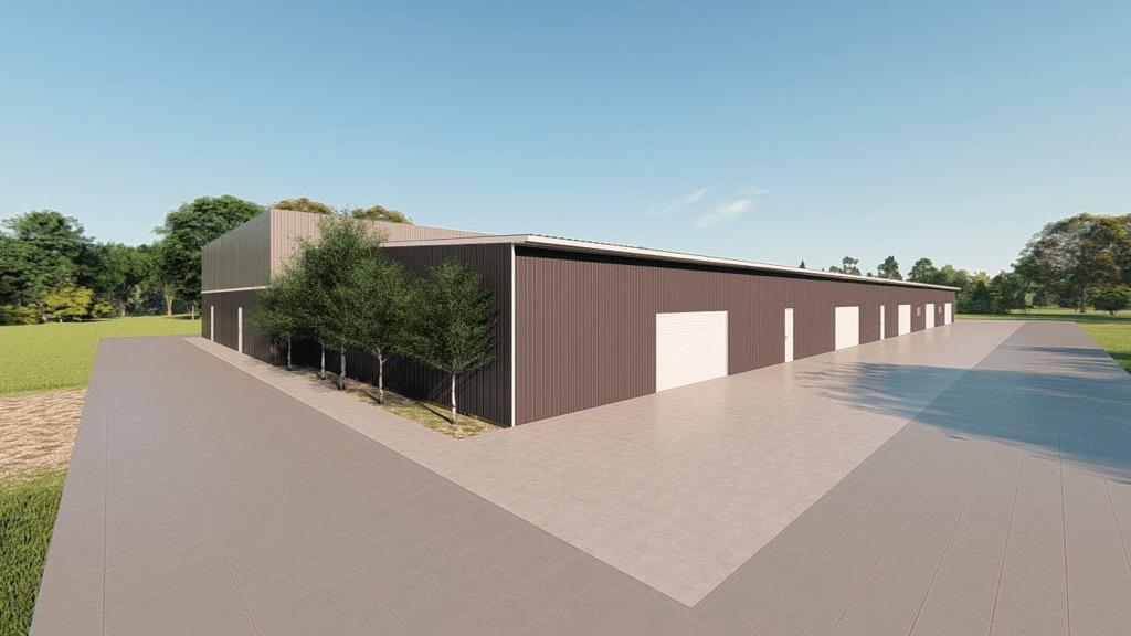 Commercial metal building rendering 5