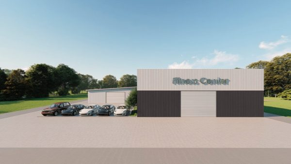 Fitness Center metal building rendering 2