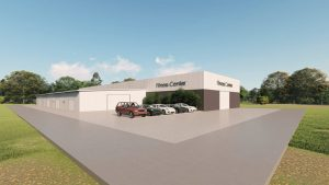 Fitness Center metal building rendering 4