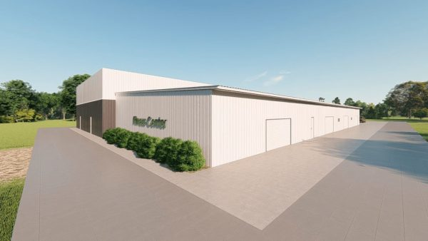 Fitness Center metal building rendering 5