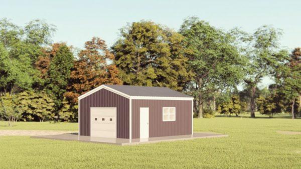 Garages 16x20 garage metal building rendering 1