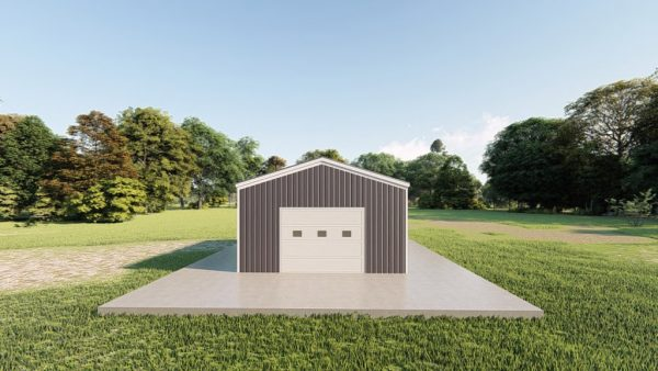 Garages 16x20 garage metal building rendering 2