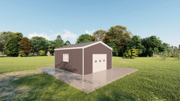 Garages 16x20 garage metal building rendering 4