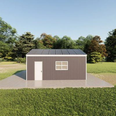 Garages 16x20 garage metal building rendering 5