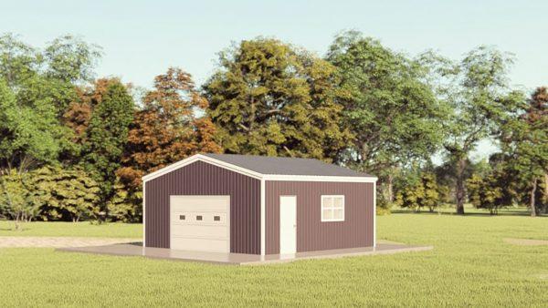 Garages 20x20 garage metal building rendering 1