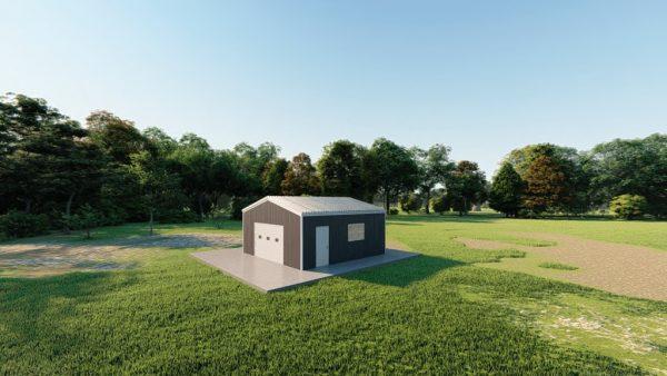 Garages 20x20 garage metal building rendering 3