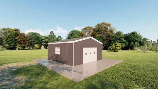 Garages 20x20 garage metal building rendering 4