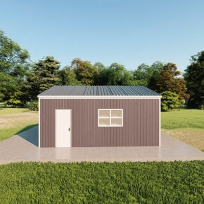 Garages 20x20 garage metal building rendering 5