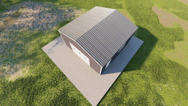 Garages 20x20 garage metal building rendering 6