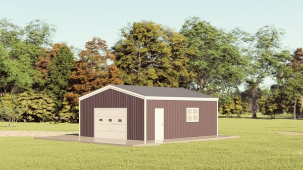 Garages 20x24 garage metal building rendering 1