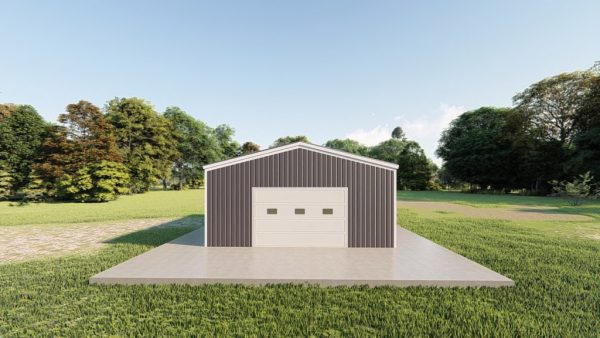 Garages 20x24 garage metal building rendering 2