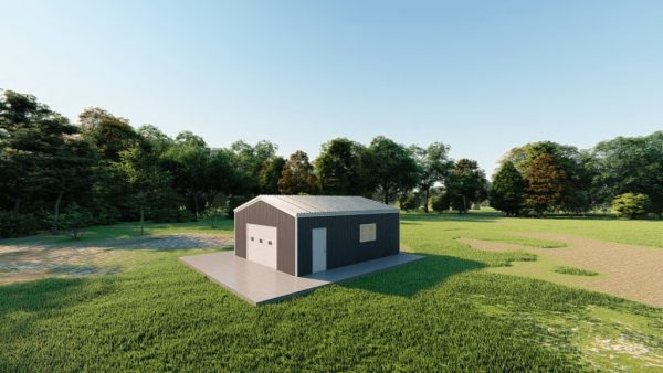 Garages 20x24 garage metal building rendering 3