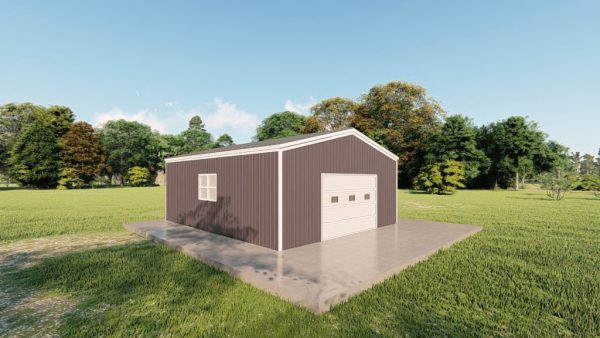 Garages 20x24 garage metal building rendering 4