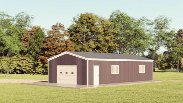 Garages 20x40 garage metal building rendering 1