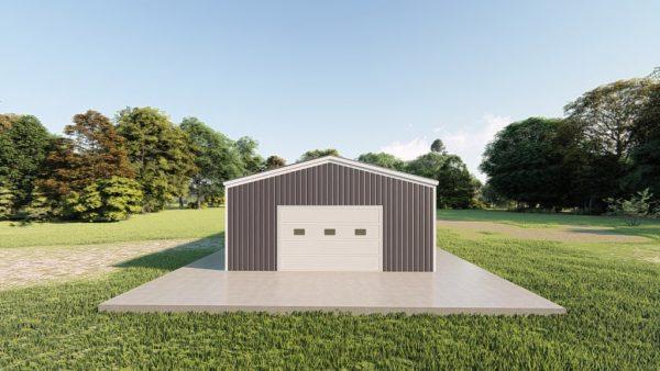 Garages 20x40 garage metal building rendering 2