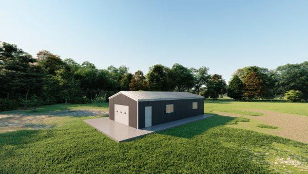 Garages 20x40 garage metal building rendering 3