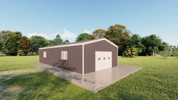 Garages 20x40 garage metal building rendering 4