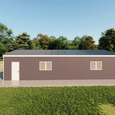 Garages 20x40 garage metal building rendering 5