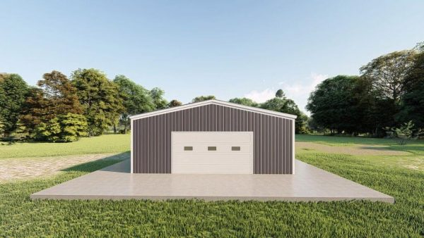 Garages 24x24 garage metal building rendering 2