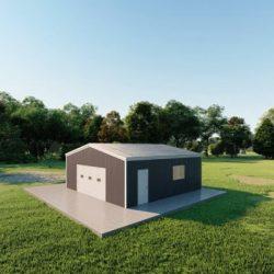 Garages 24x24 garage metal building rendering 3