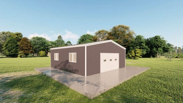 Garages 24x24 garage metal building rendering 4