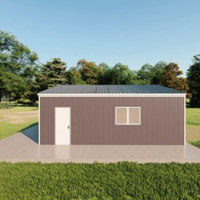 Garages 24x24 garage metal building rendering 5 1
