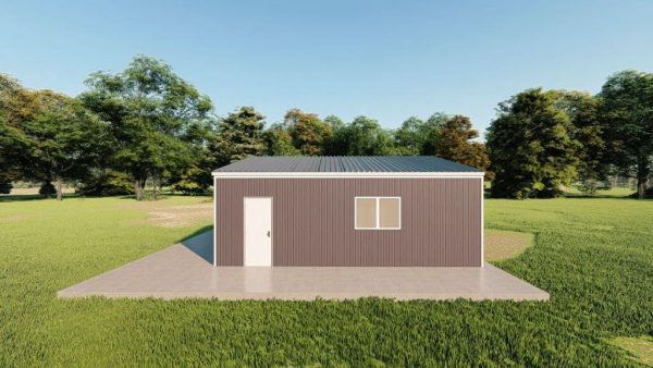 Garages 24x24 garage metal building rendering 5