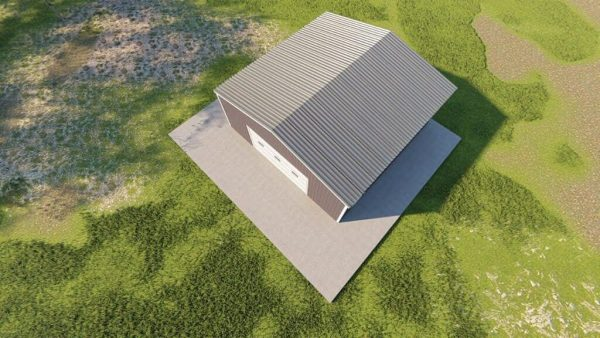 Garages 24x24 garage metal building rendering 6
