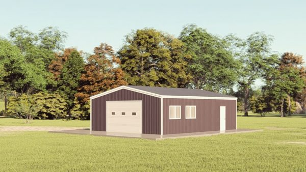 Garages 24x30 garage metal building rendering 1
