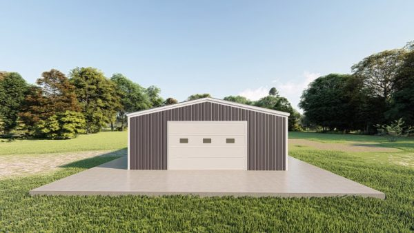 Garages 24x30 garage metal building rendering 2