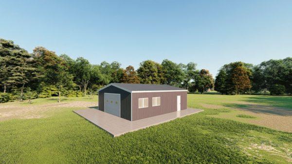 Garages 24x30 garage metal building rendering 3