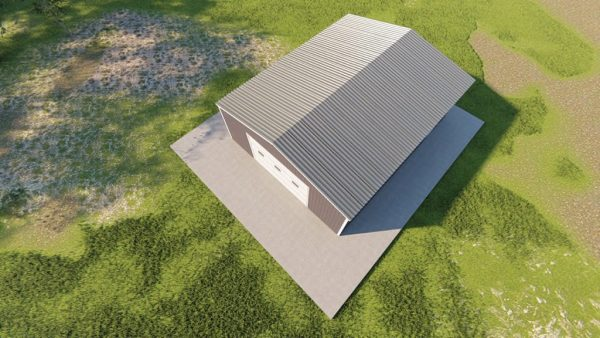Garages 24x30 garage metal building rendering 6